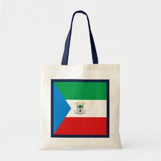 Den Ekvatorialguinea flagga hänger lös Budget Tygkasse