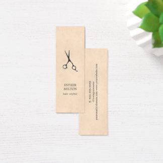 Den eleganta chic strukturgrå färg Scissors Litet Visitkort