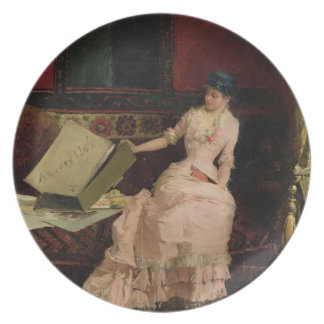 Den eleganta connoisseuren, 1883 (olja på kanfas) dinner plates