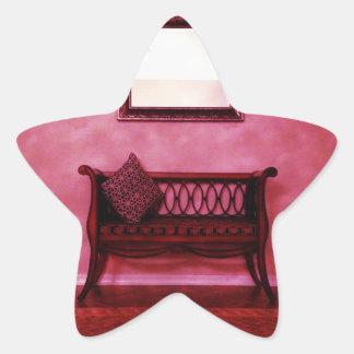 Den eleganta foajésetteen placerar stjärnformat klistermärke