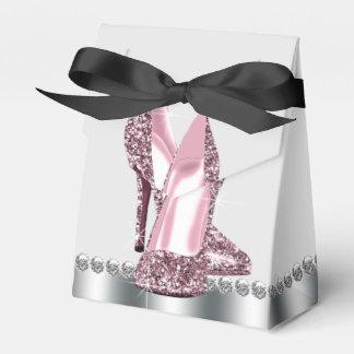 Den eleganta hälet för rosaglitterkicken skor presentaskar