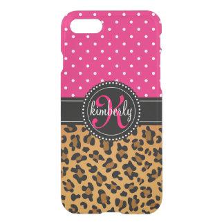 Den eleganta Leopardtryckrosan pricker flickaktigt iPhone 7 Skal
