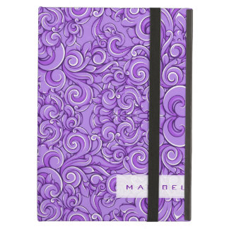 Den eleganta purpurfärgade utsmyckade Victorianblo iPad Air Skydd