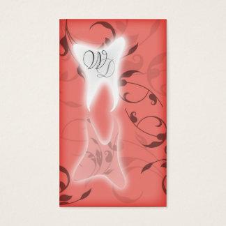 Den eleganta tandläkarevisitkortorangen visitkort