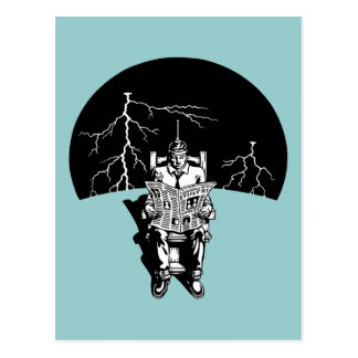 Den elektriska stolen vykort