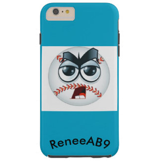 Den Emoji baseballdomare buktar boll vid ReneeAB9 Tough iPhone 6 Plus Skal