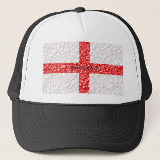 Den England flagga bubblar texturerat Keps