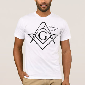 Den enkla grundläggande svarten kvadrerar & tee shirt