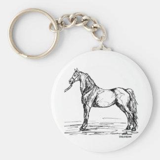 Den enkla Morgan hästen skissar Rund Nyckelring