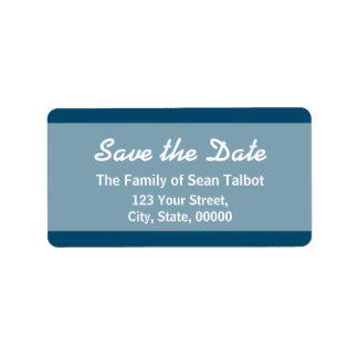 Den enkla sparan dateraetiketten väljer din färg 3 adressetikett