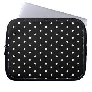 Den enkla svartvita polkaen pricker det grundlägga laptop datorfodral