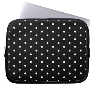 Den enkla svartvita polkaen pricker det grundlägga laptopskydd