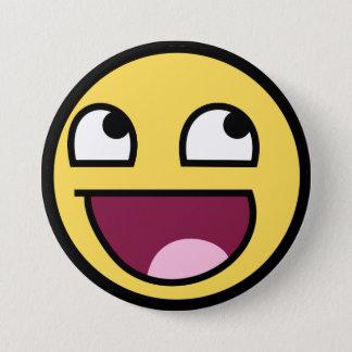 den enorma smileyen knäppas mellanstor knapp rund 7.6 cm