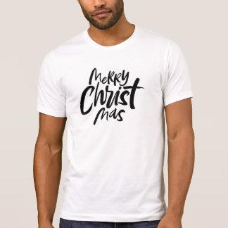 Den episka kristna julen räcker bokstäverreligiösa t shirts