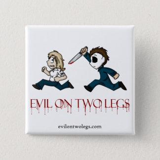 den evilontwolegs.com logotypen knäppas standard kanpp fyrkantig 5.1 cm