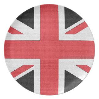 Den fackliga jackflagga av Britannien pläterar Tallrik