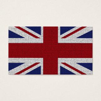 Den fackliga jackflagga, mosaik verkställer, visitkort