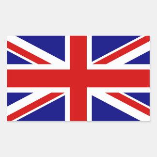 Den fackliga jackflagga rektangulärt klistermärke