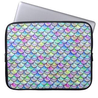 Den Falln regnbågen bubblar sjöjungfrufjäll Laptop Fodral