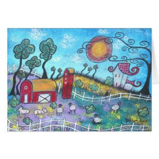 Den Fanciful lantgården noterar kortet OBS Kort