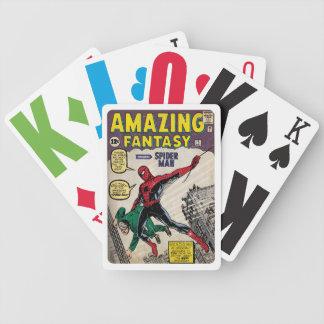 Den fantastiska fantasiSpindel-Man tecknaden Spelkort