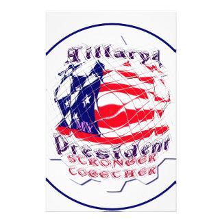 Den färgrika amerikanska flaggan färgar Hillary Brevpapper