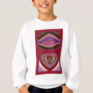 Den färgrika aningen för tungabedragareläppar t shirt