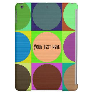 Den färgrika anpassadet cirklar iPadfodral
