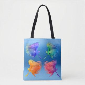 Den färgrika Betta Splendens fisken All över toto Tygkasse