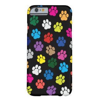 Den färgrika hunden tafsar fodral för iPhone 6 Barely There iPhone 6 Fodral