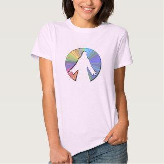 Den färgrika Jesus Kristus skisserar T-shirts