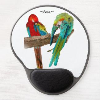 Den färgrika macawen mekaniskt säga efter fågelgel gel musmatta