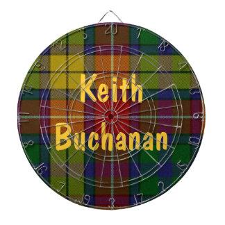 Den färgrika pilen för den Buchanan Tartanplädet s Piltavla