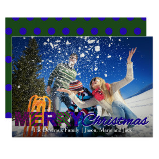 Den färgrika polkaen för julkort | pricker 12,7 x 17,8 cm inbjudningskort