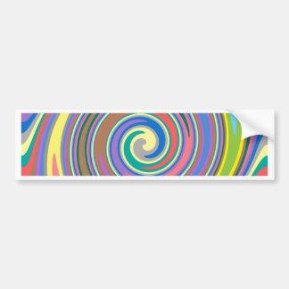 Den färgrika regnbågen virvlar runt mönster bildekal