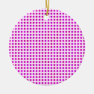 Den färgrika rosa polkaen pricker moderiktig julgransprydnad keramik