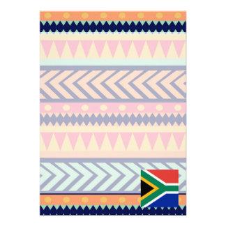Den färgrika Sydafrika flagga boxas 12,7 X 17,8 Cm Inbjudningskort