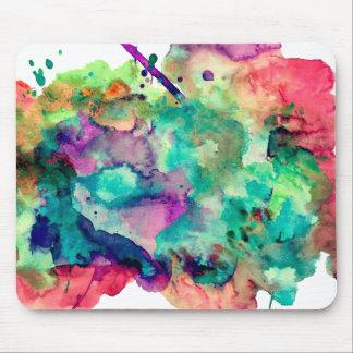 Den färgrika unika vattenfärgen målar stänk musmatta