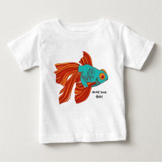 """Den färgrika utslagsplatsen för guldfisk""""måste t shirts"""