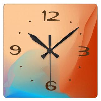 Den färgrika vattenfärgen med solbränna nr. > fyrkantig klocka