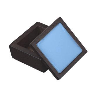 Den fasta baby blue högvärdiga gåvan boxas premie minnesaskar
