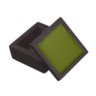 Den fasta oliv grönt högvärdiga gåvan boxas premie smyckeskrin