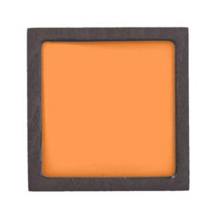 Den fasta orange högvärdiga gåvan boxas premie presentförpackningar