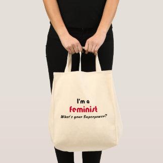 Den feministiska toppen driver rosa slogan tygkasse