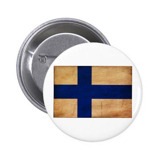 Den Finland flagga knäppas Knapp Med Nål
