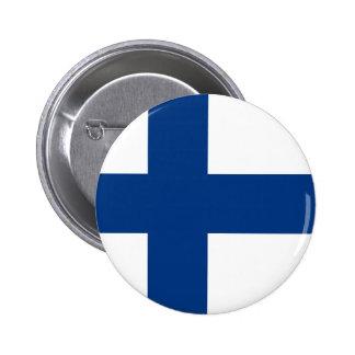 Den Finland flagga knäppas Standard Knapp Rund 5.7 Cm