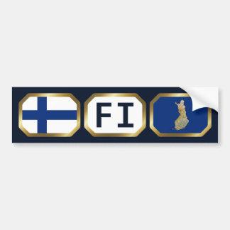 Den Finland flaggakartan kodifierar bildekalet Bildekal