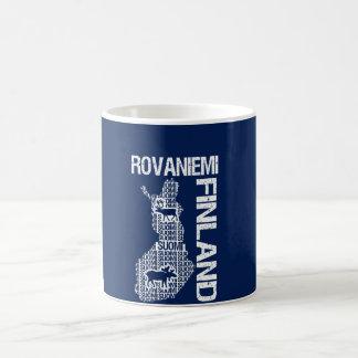 Den FINLAND KARTAmuggen - Rovaniemi - välj stil, Vit Mugg