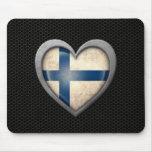 Den finlandssvenska hjärtaflagga stålsätter koppla mus mattor