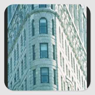Den Flatiron byggnaden (foto) 2 Fyrkantigt Klistermärke
